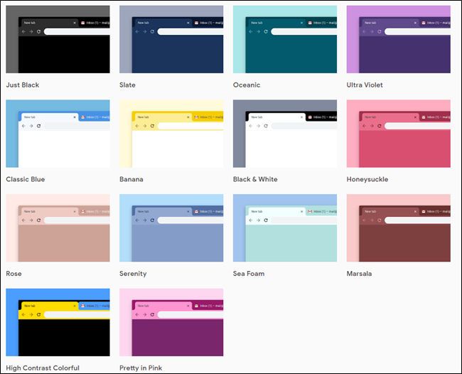 Google publishes official Chrome themes collection