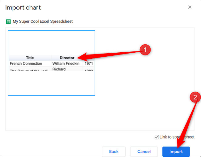Select a Chart to Insert