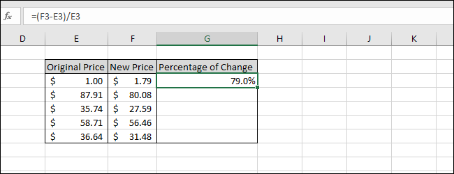Formatted as Percent with One Decimal Place