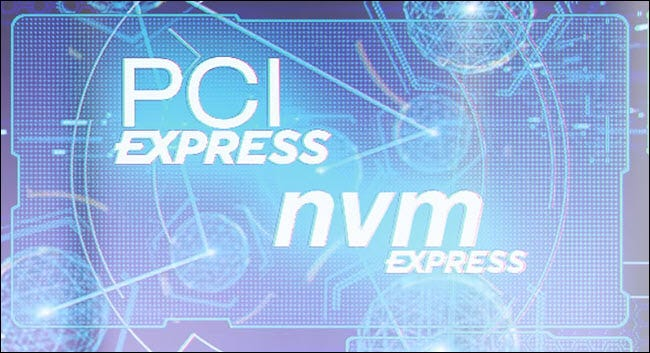The PCIe and NVMe logos.