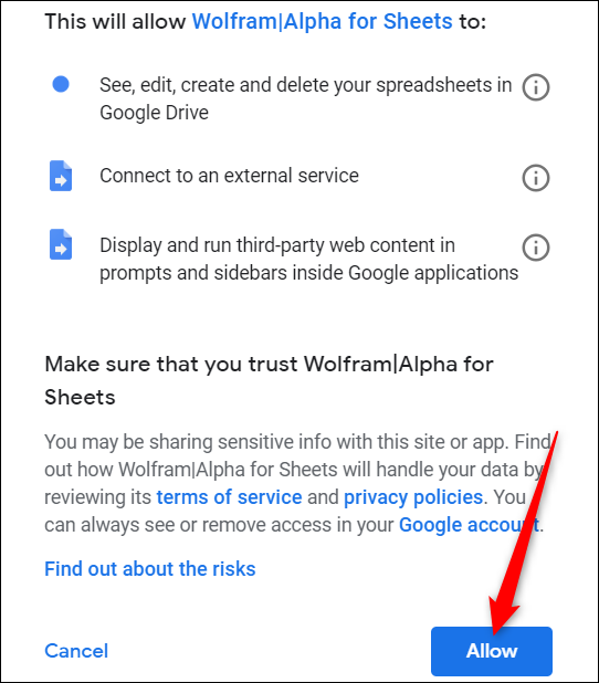 Allow an App to Certain Permissions