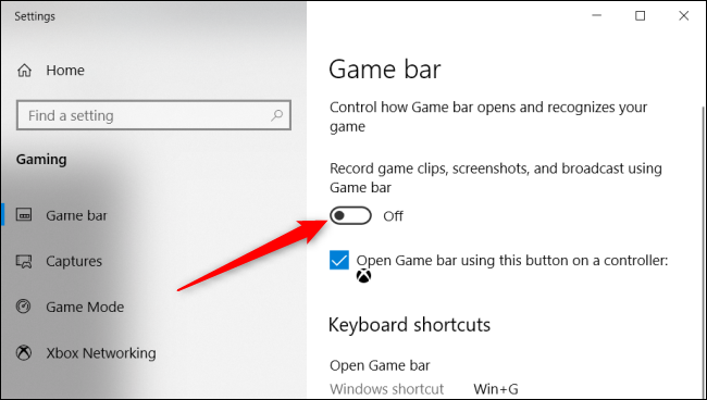 allow game bar to record clips