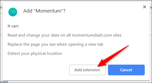 Click the Add Extension button
