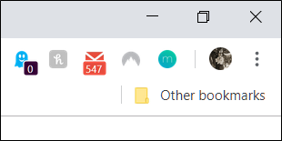 The new extension docked on the Chrome shelf