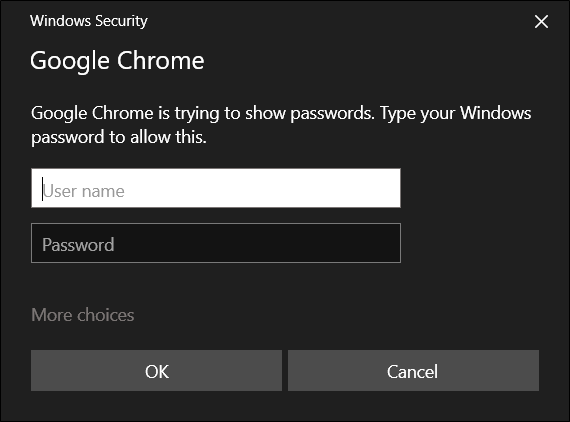 Enter your computer's username and password to continue
