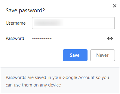 Error Prevention for Forgetting Passwords
