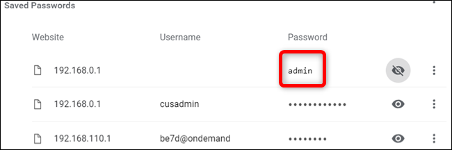 Voila! The password is revealed