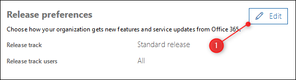 The Release Preferences panel and Edit button