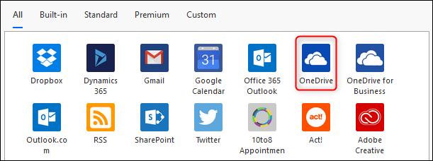 The OneDrive icon