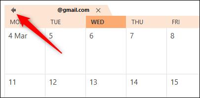 The Outlook calendar overlap arrow