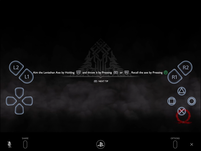 PS4 Remote Play touch controls on iPad