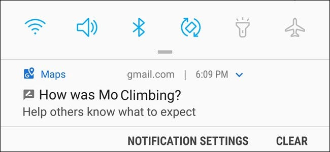 How Was Mo Climbing? notification