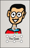 The Geek text and image