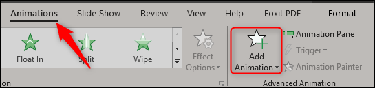 add animations tab