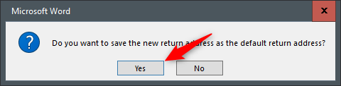 default return address