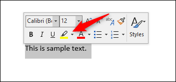 highlighter icon in Word