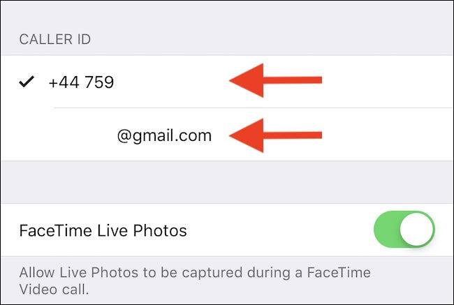 Select the number or address you want to use