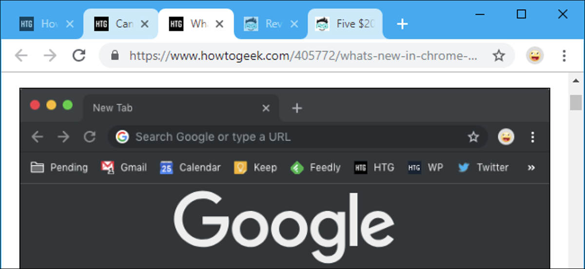 Tabs selected in a Google Chrome browser window