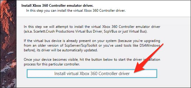 Install virtual 360 controller driver