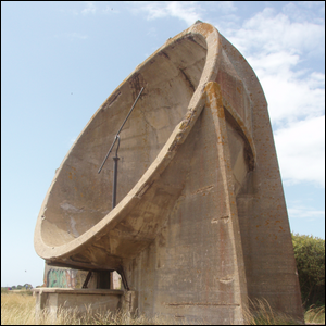 A concrete acoustic mirror in Kent, England