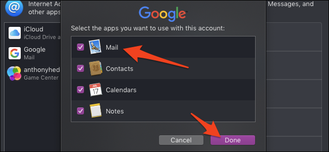 Choose which mail features to enable