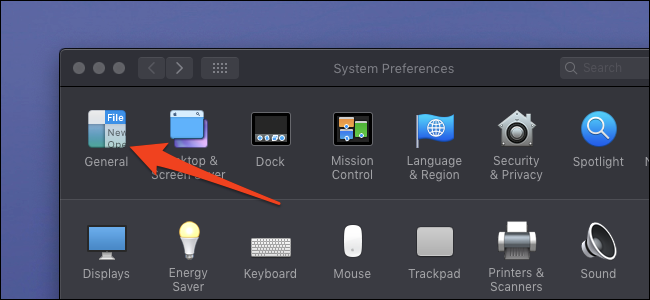 system preferences general tab
