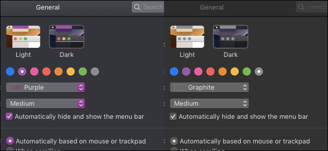 Graphite accent is darker than other accents