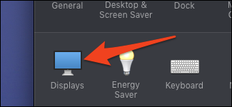 system preferences displays settings
