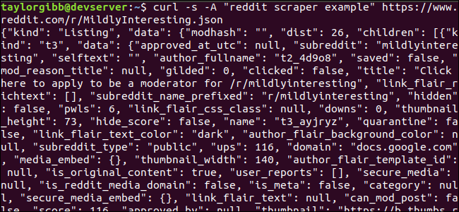 Scrape a subreddit from Bash