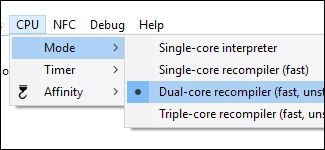 CPU Mode Dual-Core recompiler