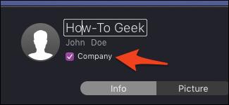 Company contact option