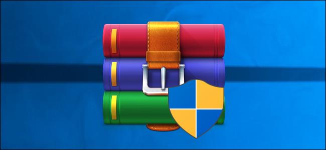 WinRAR installer logo on a Windows 10 desktop