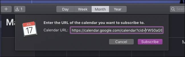 macOS Calendar ics url