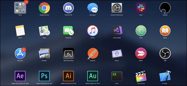 macOS launchpad