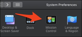 macOS mission control preferences