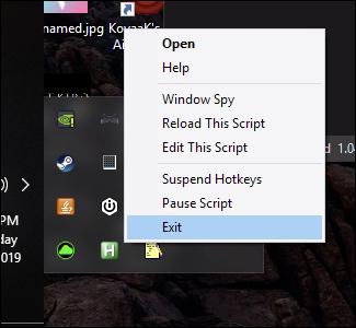 autohotkey script running