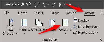 layout tab