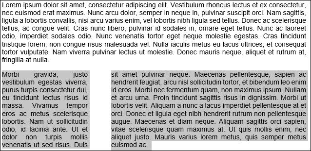 left column example