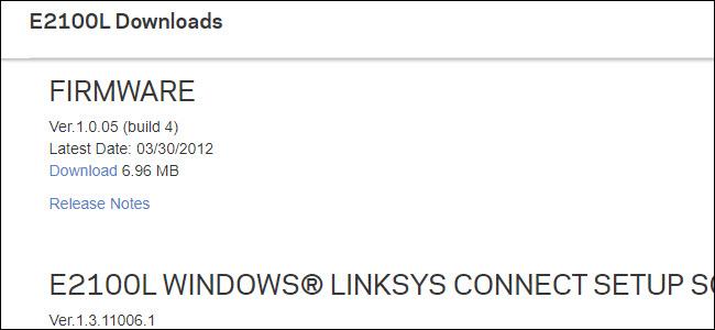 Linksys E21000L Firmware listing