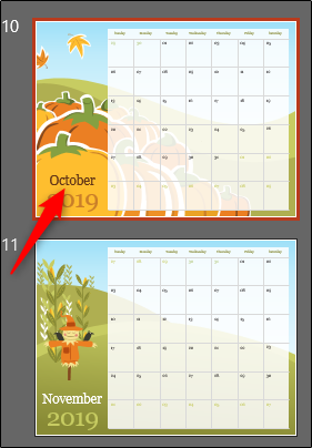 select october in calendar