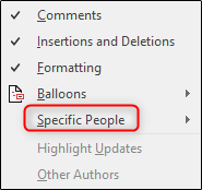 specific people