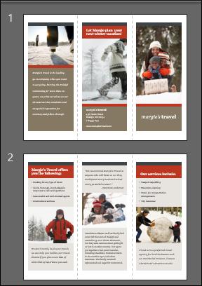 tri-fold slides