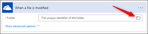 The Folder field with folder icon highlighted