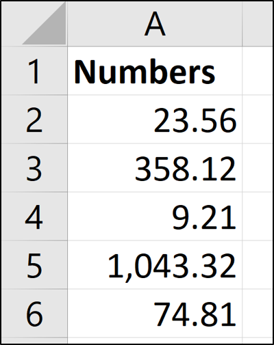 Numbers converted by Text to Columns