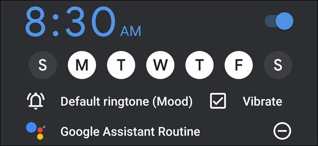 Google Clock Alarm with Google Assistant Routine