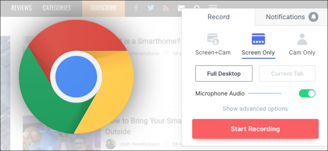 Chrome recording
