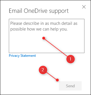 The Information text box and Send button