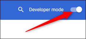Toggle Developer Mode in Chrome's settings