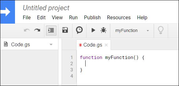 Una función vacía para su secuencia de comandos encuadernada