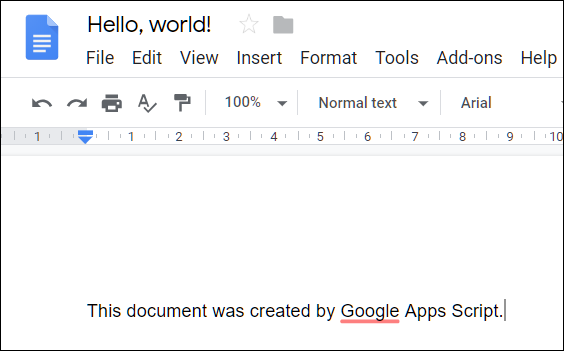 Inside the file is the line of text you added via the script